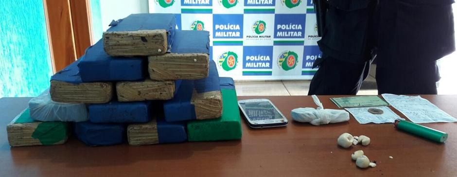 Homem que transportava 10 quilos de maconha é preso em Caçu