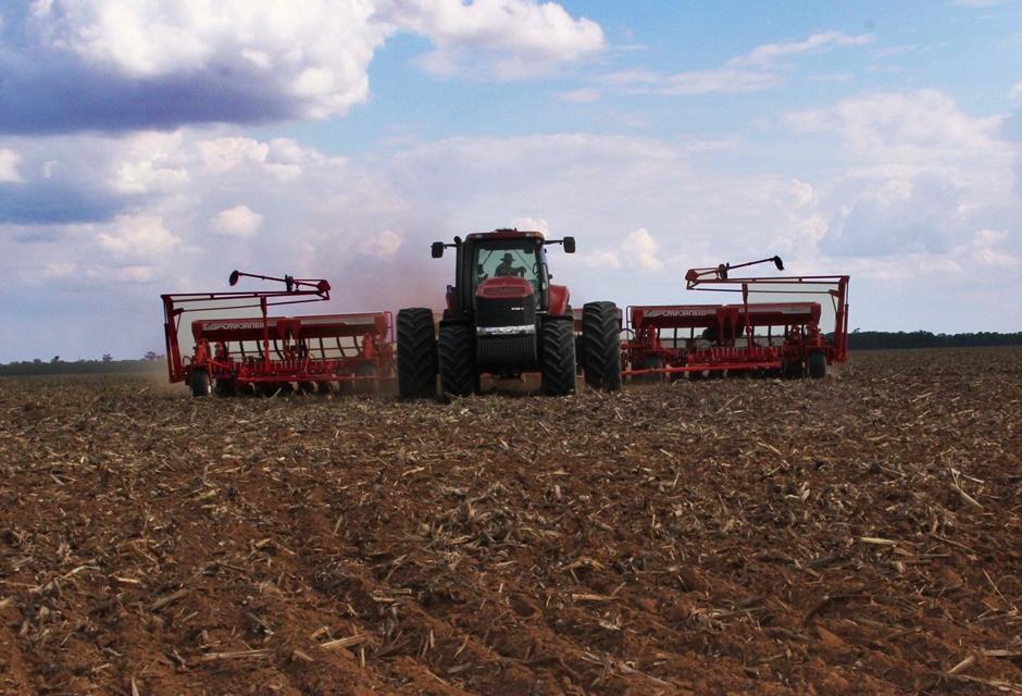 Chuvas regulares favorecem o plantio da soja em Goiás