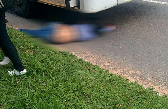 Mulher morre atropelada por ônibus do transporte coletivo na Avenida T-63