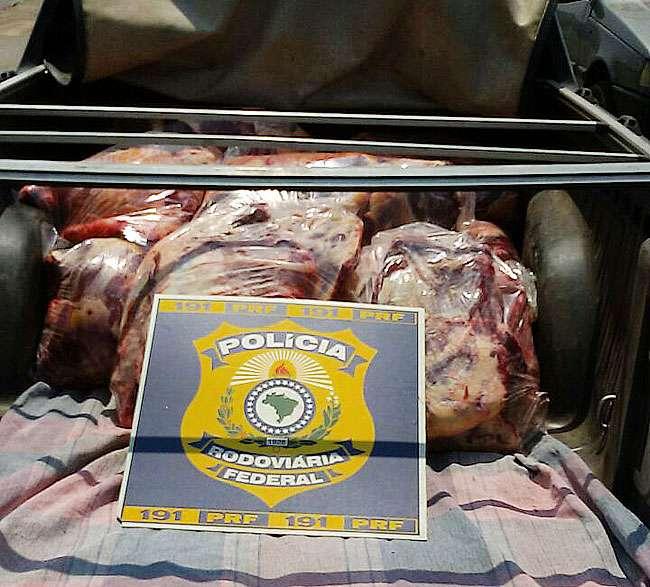 PRF apreende carne bovina clandestina destinada a restaurante bastante frequentado em Goiânia