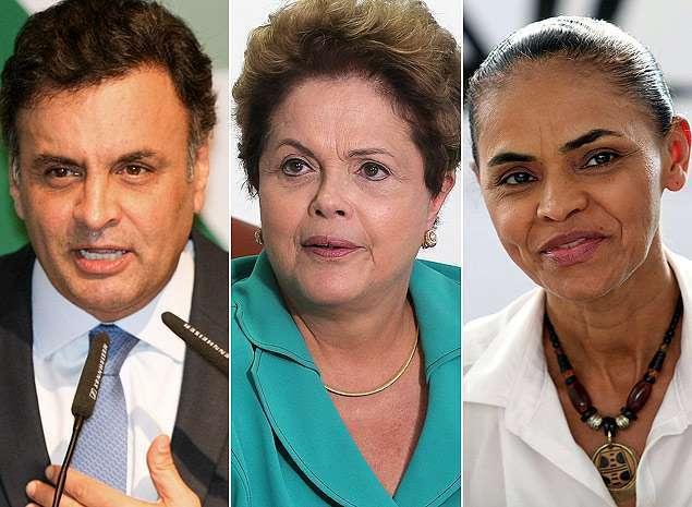 Dilma tem 40%, Marina, 27%, e Aécio, 18%, aponta pesquisa Datafolha
