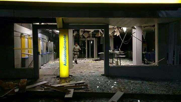 Bandidos explodem caixa eletrônico de agência bancária em Quirinópolis