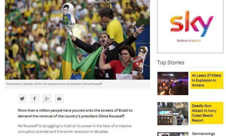 Manifestações contra o Governo Dilma são destaque na imprensa internacional