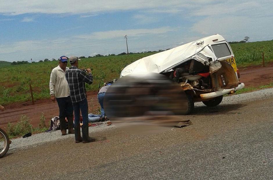 Acidente entre Kombi escolar e caminhão deixa mortos e feridos na GO-173, em Santa Fé de Goiás