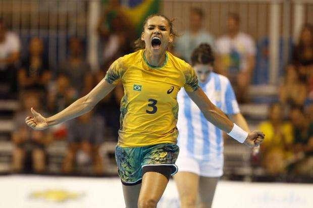 Handebol feminino vence Argentina e leva o ouro em Toronto