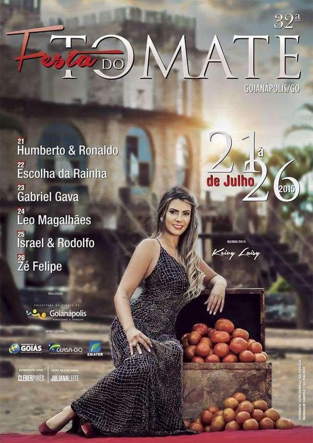 Festa do Tomate começa dia 21 em Goianápolis
