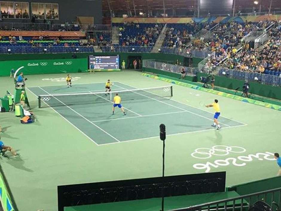 Melo e Soares vencem irmãos tailandeses na estreia de duplas no tênis