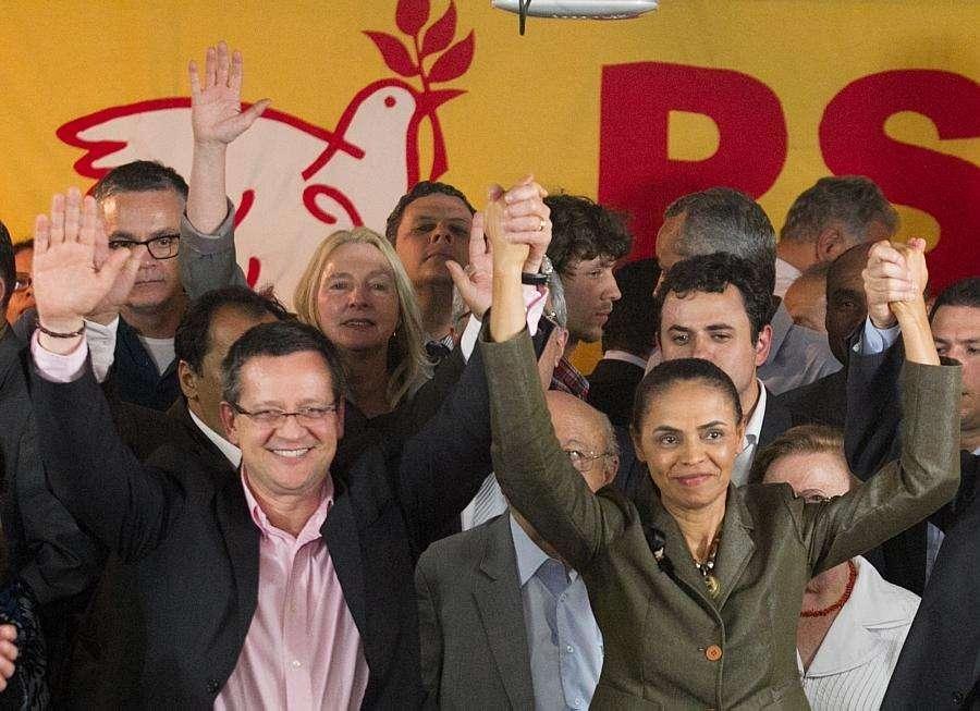 PSB oficializa Marina e Albuquerque na chapa que vai disputar a presidência da República