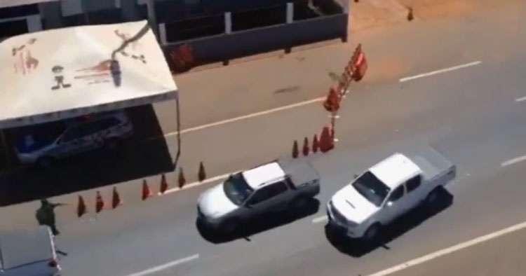 Jovem é preso após roubar camionete e tentar se esconder em shopping de Goiânia