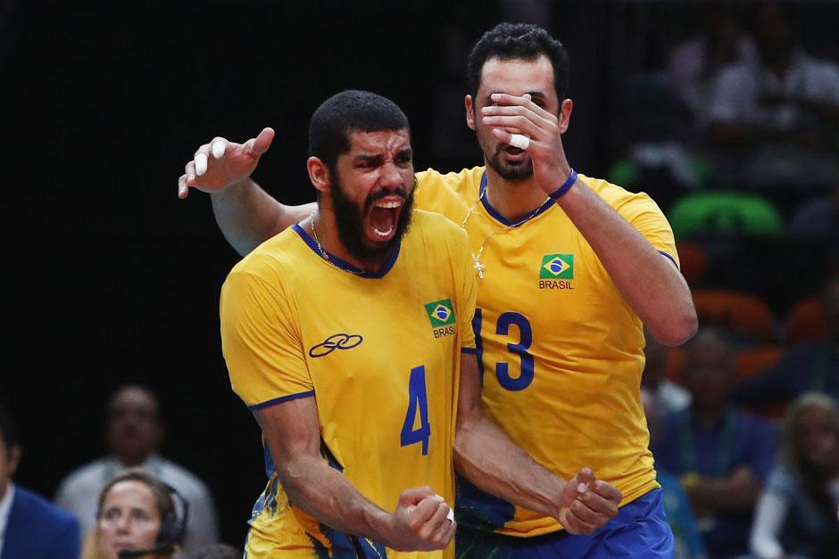 Brasil passa fácil pela Rússia e está na final olímpica do vôlei masculino