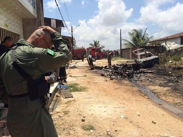 Helicóptero usado pelo Grupamento Aéreo da Polícia Militar cai em Maceió