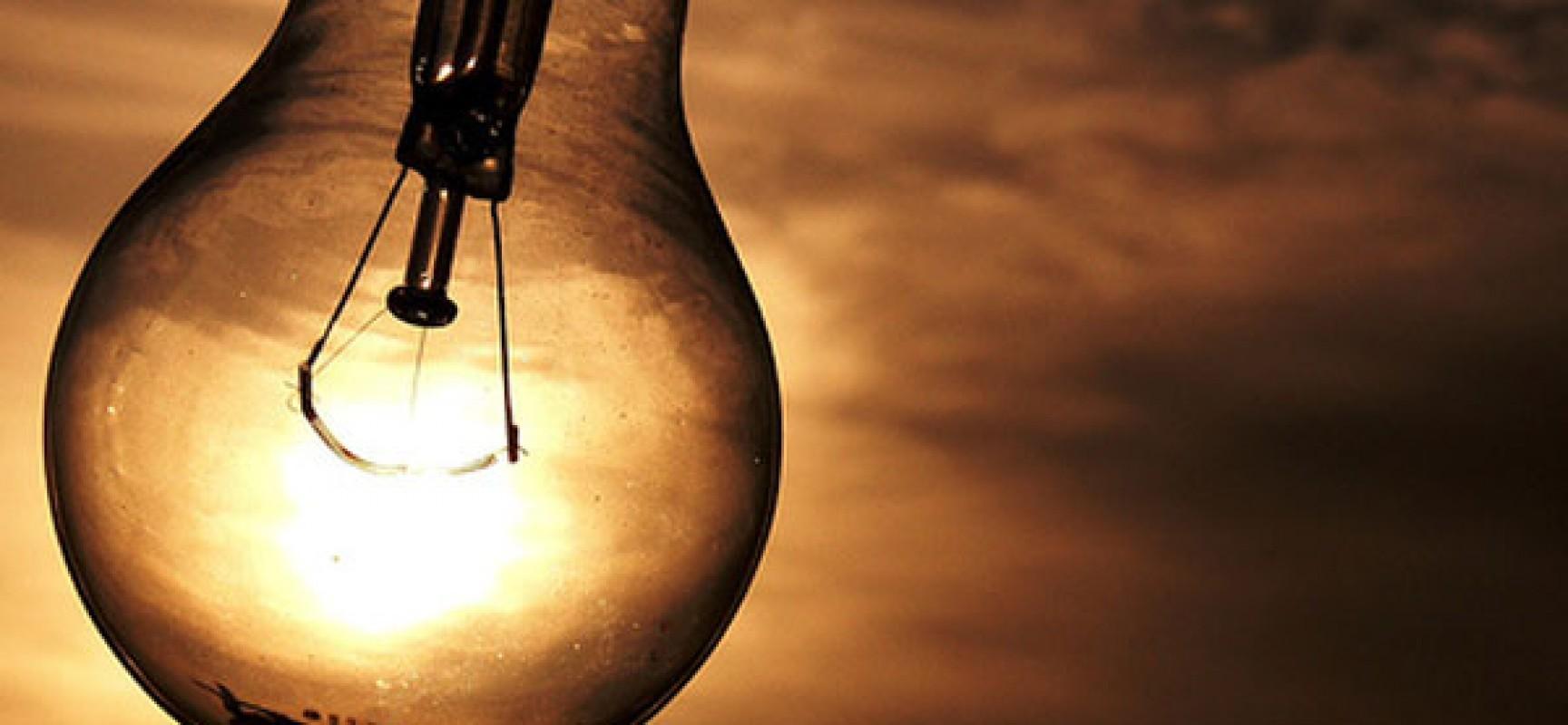 Conta de luz não deve ter aumento até dezembro