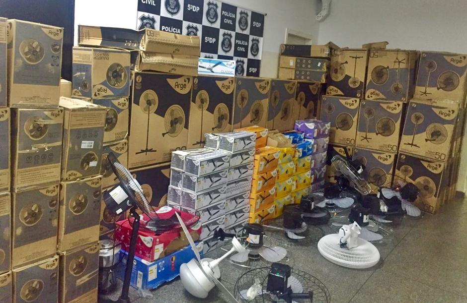 Polícia Civil recupera carga roubada de ventiladores em Goiânia