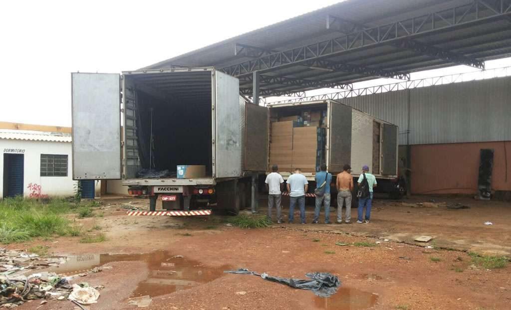 PRF e PM recuperam carga de ar-condicionado roubada e prende receptador