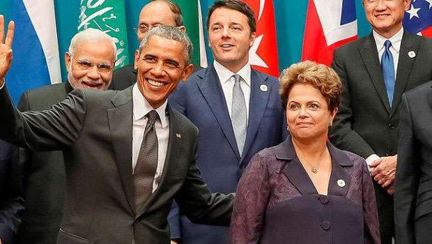 No G-20, Dilma teve conversa informal com Obama