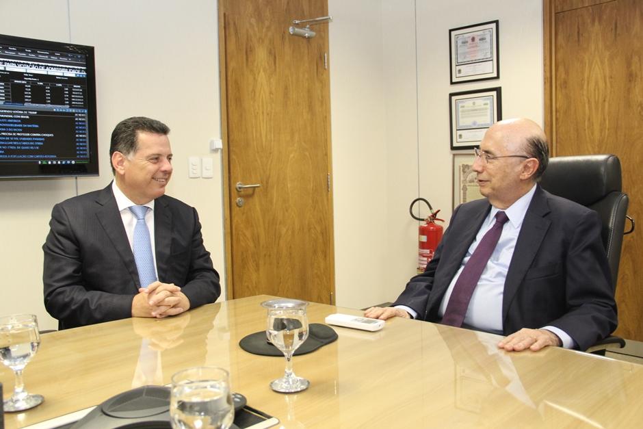 Em reunião com ministro da Fazenda, Marconi pede mais recursos para Goiás
