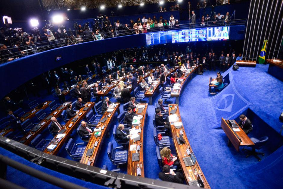 Lewandowski chega para sessão final que irá votar o impeachment de Dilma