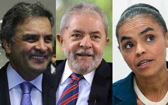 Datafolha: Aécio lidera com 35%; Lula tem 25%