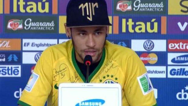 'Começamos juntos e vamos terminar juntos', diz Neymar