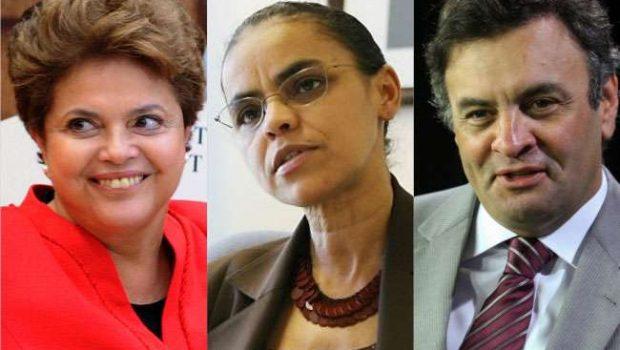 CNT/MDA: Dilma tem 34,2%; Marina, 28,2%; e Aécio, 16%