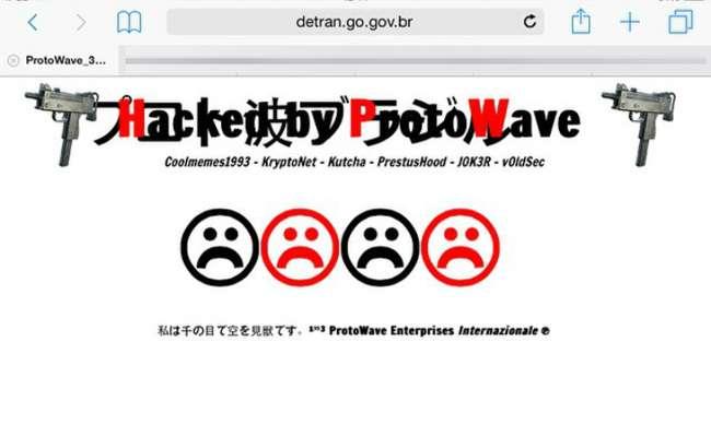 Site do Detran Goiás é hackeado