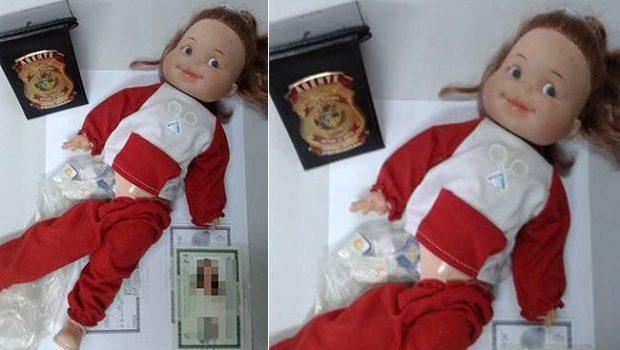 Mulher é presa tentando entrar em presídio com boneca cheia de chips para celular