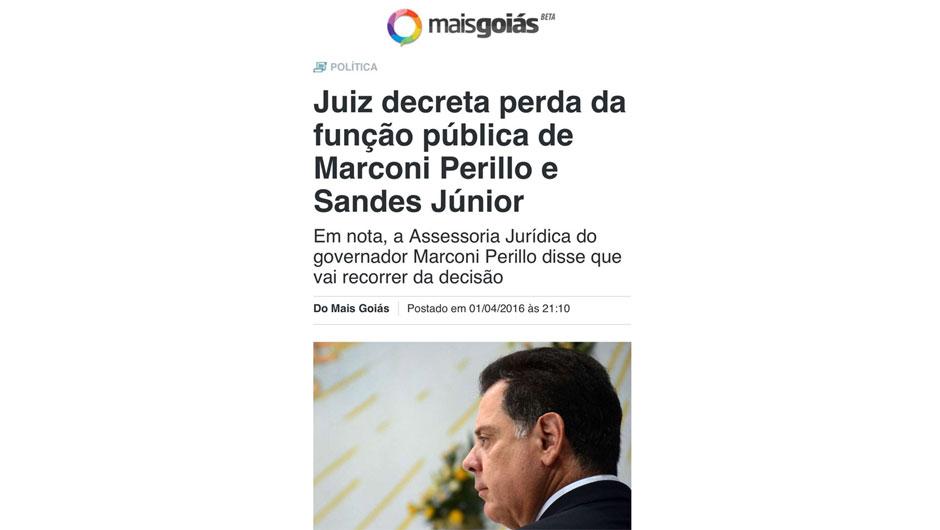 Informação de matéria antiga do Portal Mais Goiás está sendo divulgada como se fosse recente