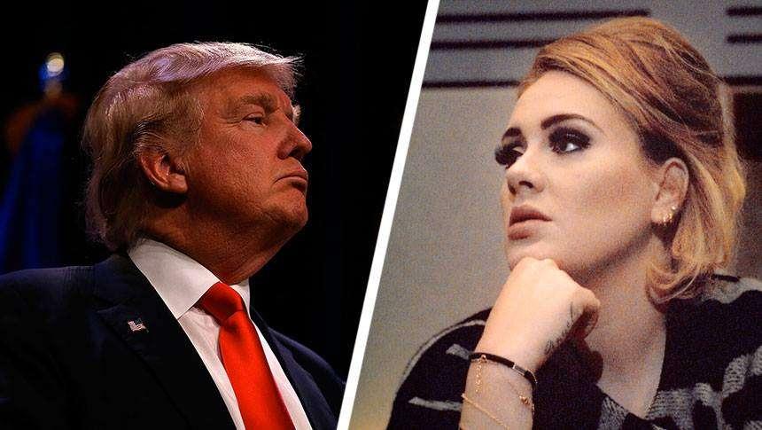 Adele proíbe Trump de usar suas músicas em campanha