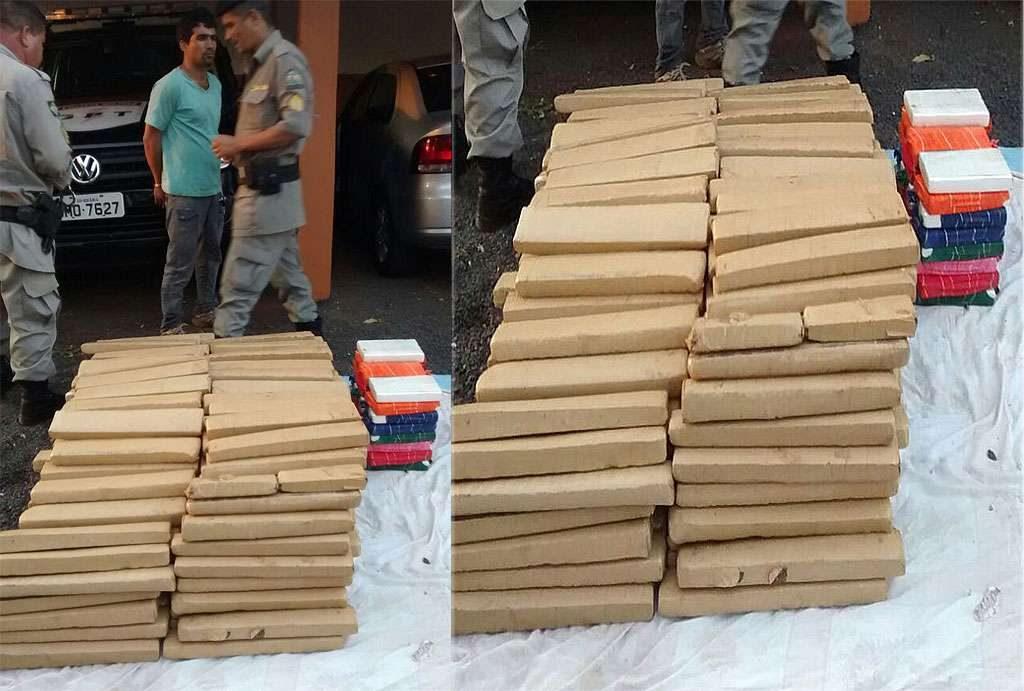 Polícia apreende meia tonelada de drogas em Goiatuba