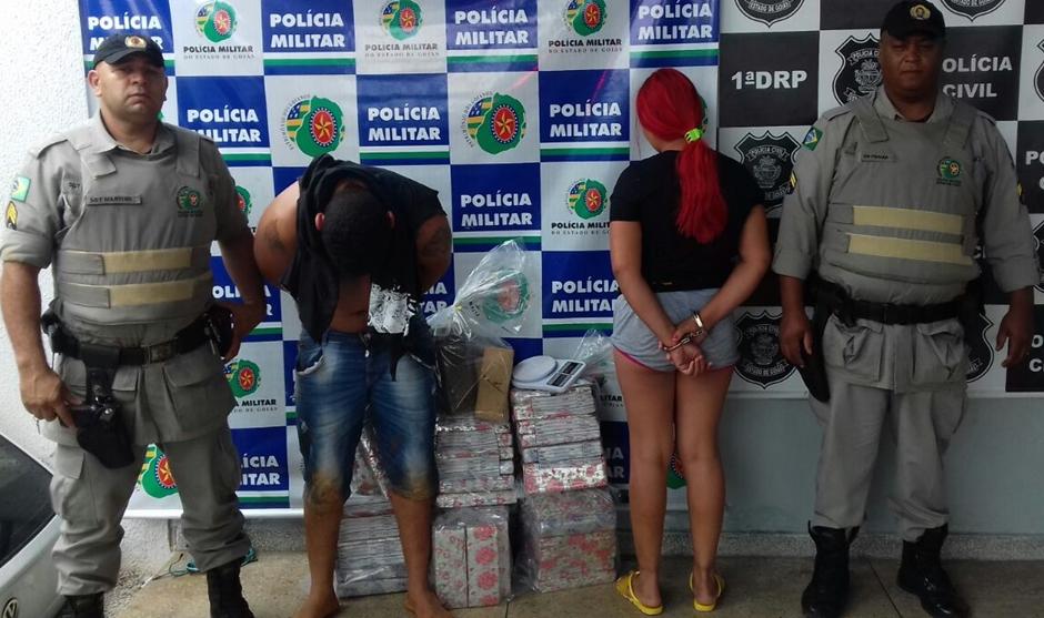 PM apreende 76 quilos de maconha no Parque Eldorado Oeste, em Goiânia