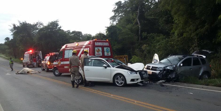 Homem morre após bater carro em uma vaca na GO-330