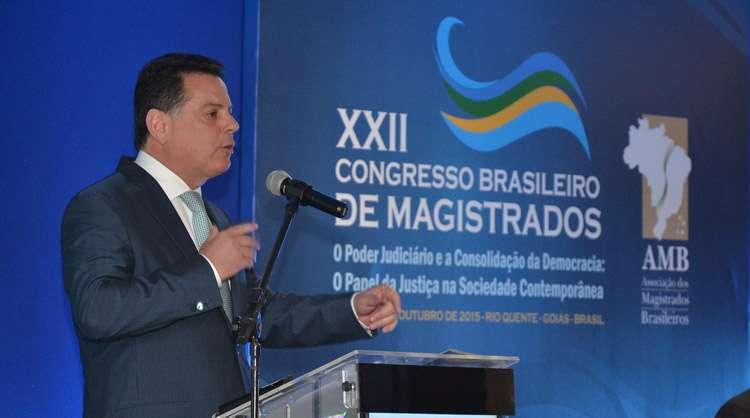 Marconi fala sobre os avanços da Segurança Pública em Goiás no Congresso Brasileiro de Magistrados