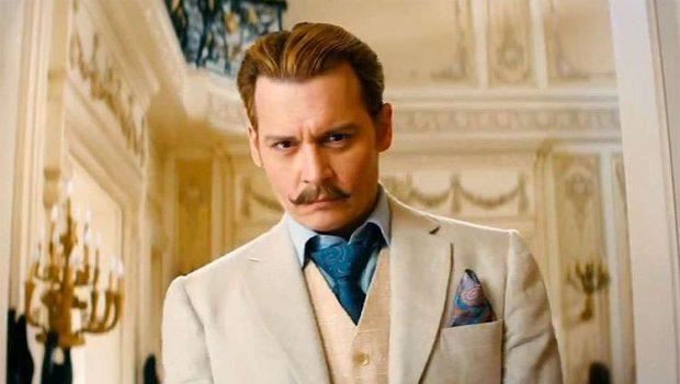 """Johnny Depp aparece loiro e de bigodão em trailer de """"Mortdecai"""""""