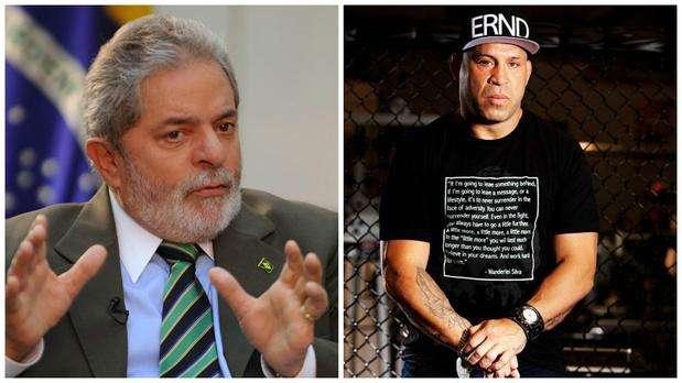 Lula rebate crítica de Wanderlei Silva no facebook