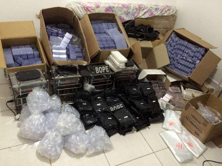 Polícia estoura laboratório de produção e distribuição de ecstasy
