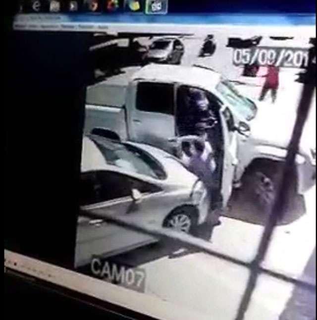 Delegado reage a assalto, mas é atropelado por suspeito