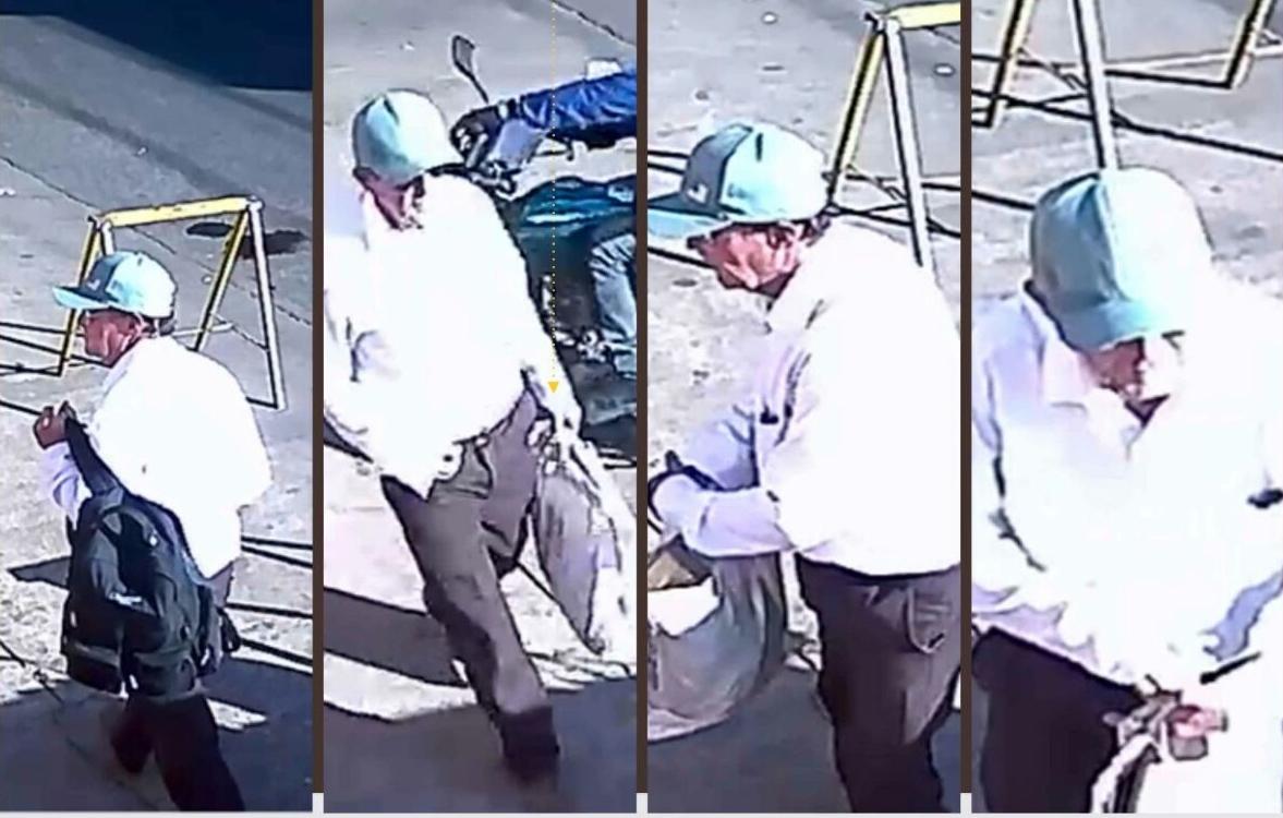 Polícia divulga imagens do homem que enviou bomba para advogado