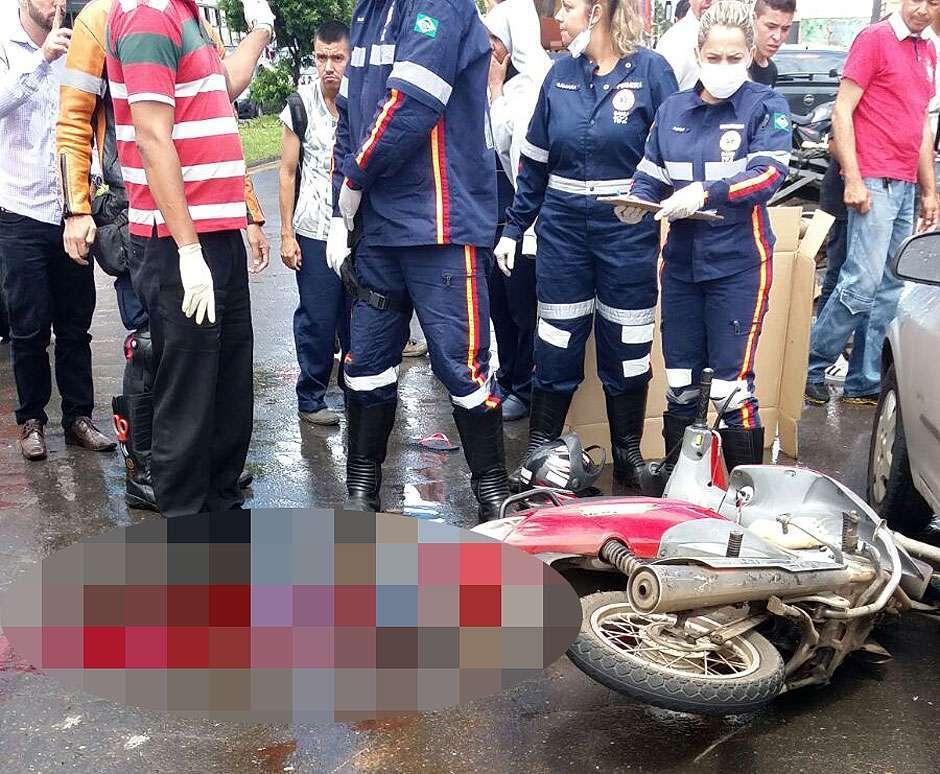Motociclista morre após ser atropelada por caminhão na Avenida Rio Verde