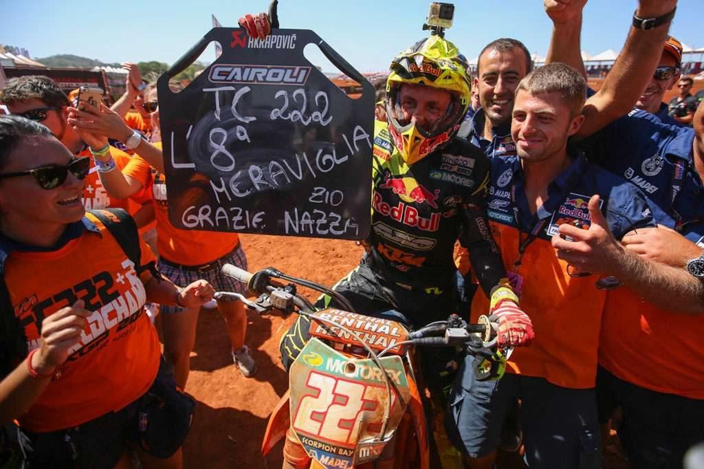 Tony Cairoli conquista o oitavo título do Mundial de Motocross