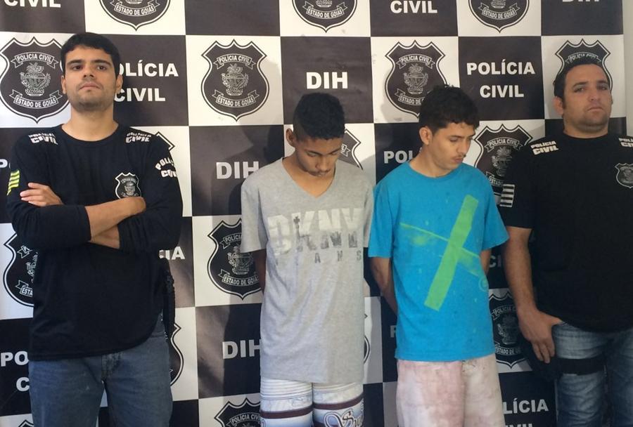 Polícia apresenta suspeitos de matar jovem por dívida de drogas