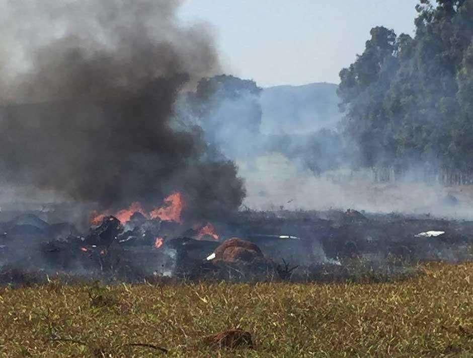 Avião monomotor cai nas proximidades de Corumbaíba