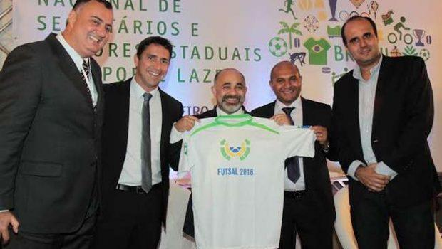 Ministro do Esporte declara apoio ao Mundial Universitário de Futsal 2016 em Goiânia