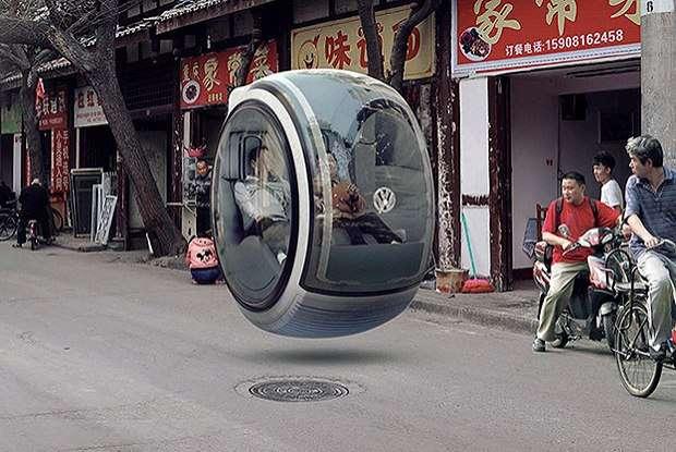 Carro do futuro é flutuante e usa energia eletromagnética