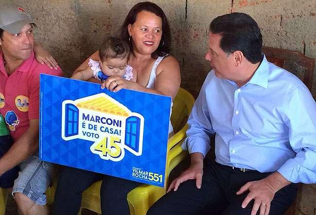 Ação na internet leva governador à residência de moradores de Anápolis