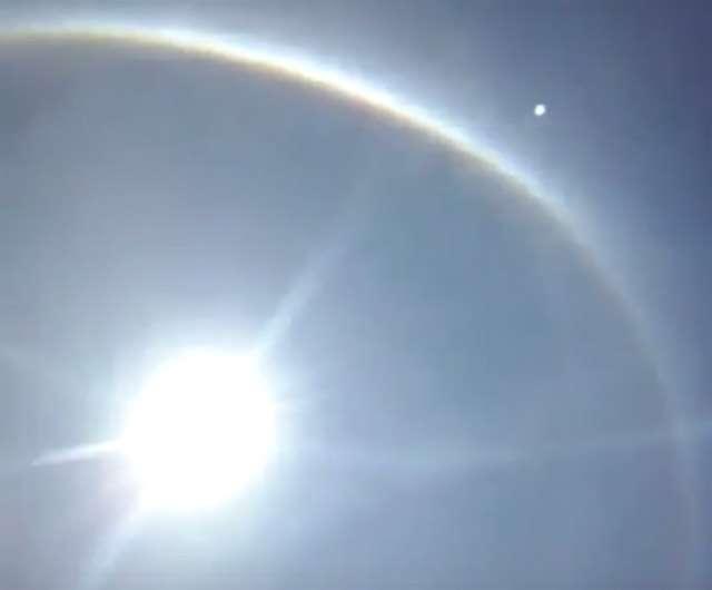 Fenômeno Halo Solar intriga moradores de Faina