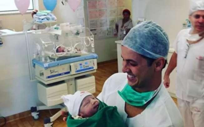 Fernanda Gentil dá à luz Gabriel, seu primeiro filho com Matheus Braga