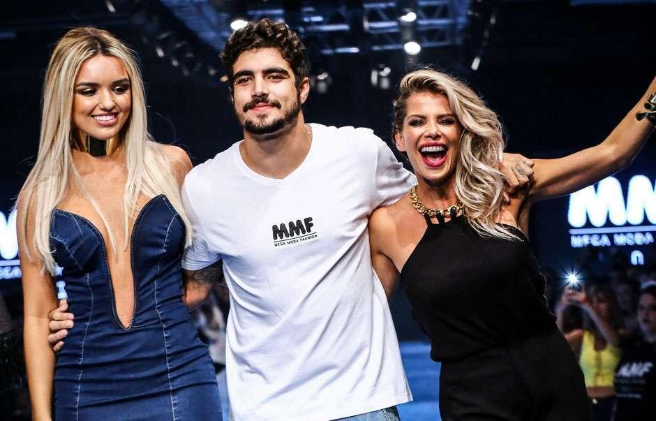 Caio Castro e famosas participam do Mega Moda Fashion, em Goiânia; veja fotos