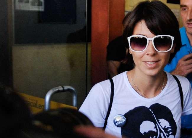 Sininho é acusada de agredir manifestante no Rio
