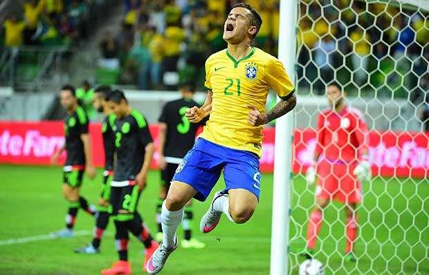 Ataque funciona sem Neymar, e Brasil bate México em amistoso