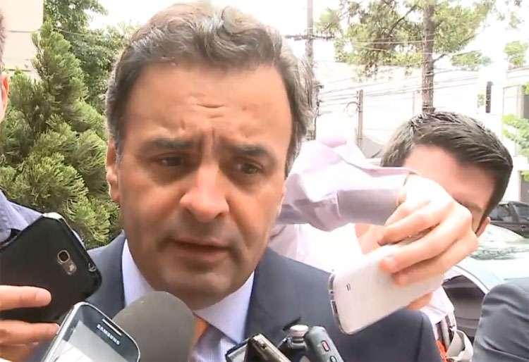 Em vídeo, Aécio diz que campanha do PT usou 'infâmia e mentira'
